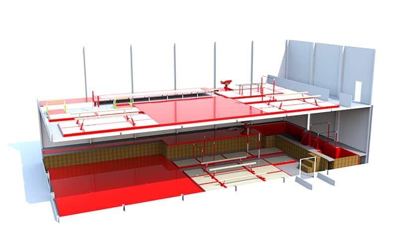 mezzanine-floors design for building