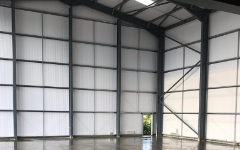 tall hot rolled steel warehouse