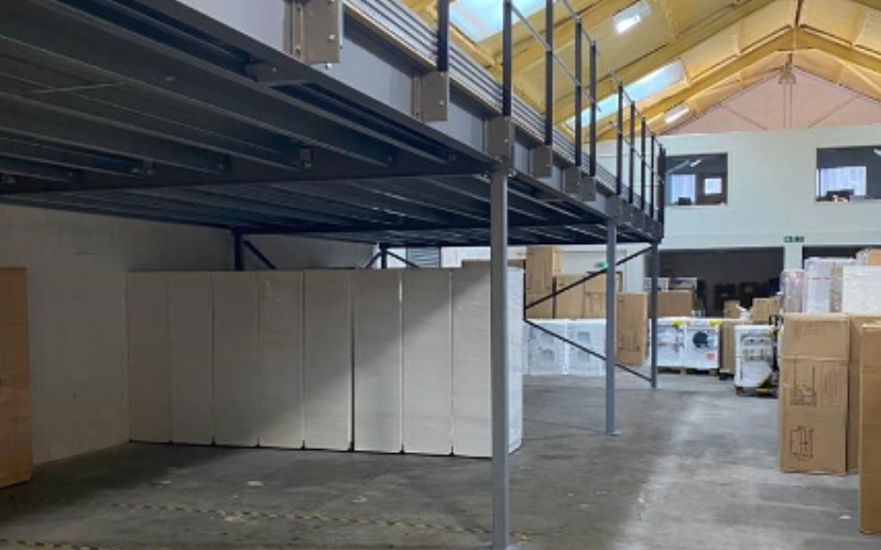 storage under mezzanine floor building